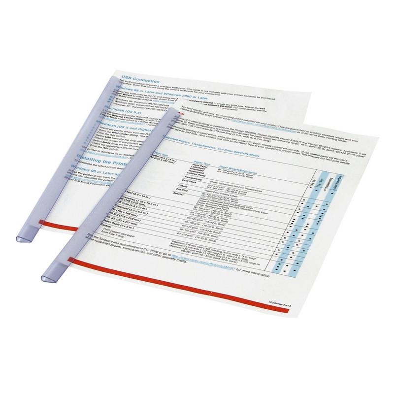 Скрепки -шина DURABLE 2900 на 30 листов прозрачные Германия
