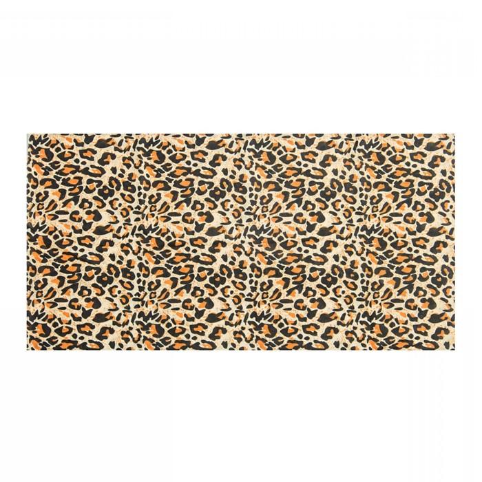 Повязка трикотажная, цвет леопард, размер 24х49