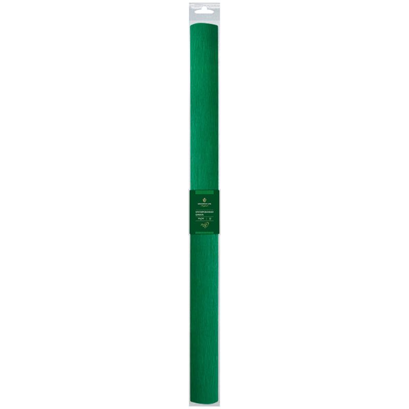 Бумага крепированная Greenwich Line, 50*250см, 32г/м2, темно-зеленая, в рулоне, пакет с европодвесом