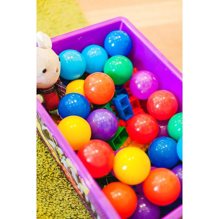 Шарики для сухого бассейна с рисунком, диаметр шара 7,5 см, набор 8 штук, цвет разноцветный