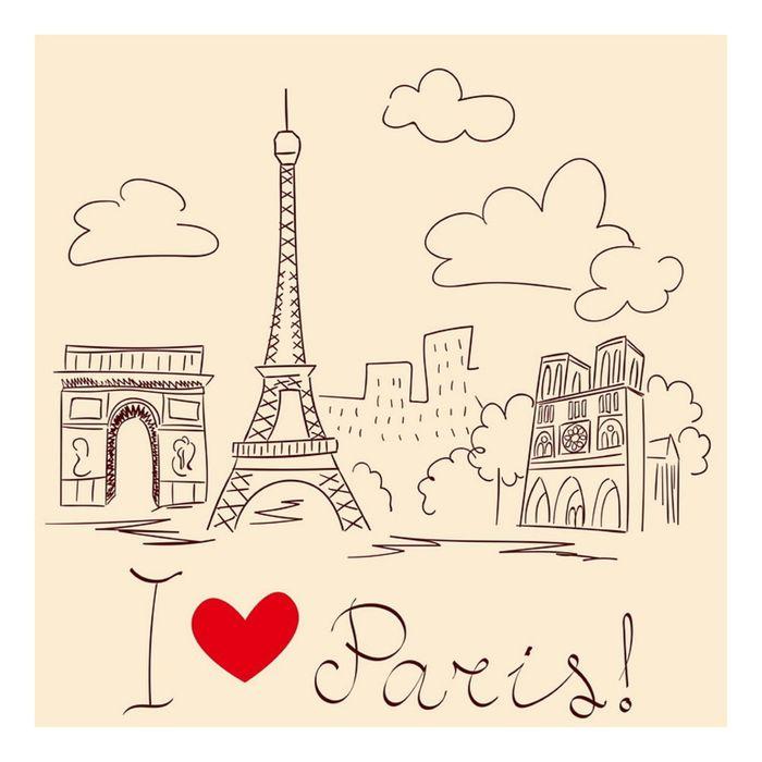 "Фасад ""Галерея"", крем, рисунок Париж"