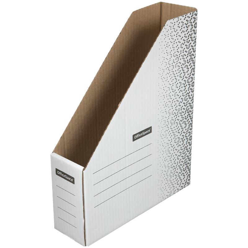 """Накопитель-лоток архивный из микрогофрокартона OfficeSpace """"Standard"""" плотный,  75мм, белый, 700л."""