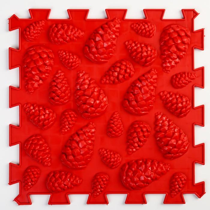 Детский массажный коврик 1 модуль «Жёсткие Шишки», цвет МИКС