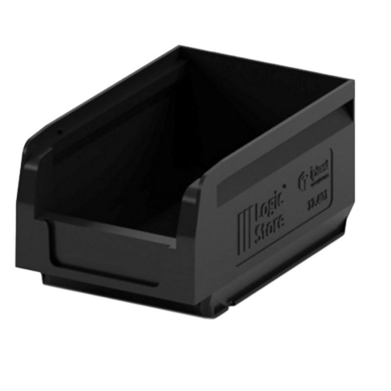 Лоток для склада logic store 165х100х75 черный (12.401)