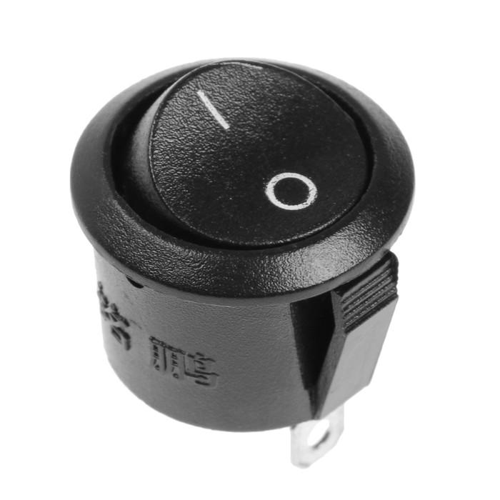 Кнопка - выключатель, без подсветки