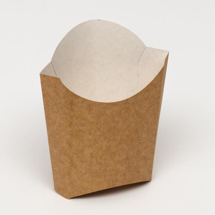 Упаковка для картофеля фри, крафт, 15,8 х 13,5 см, 200 г
