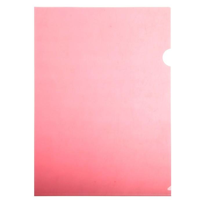Папка-уголок A4, 150мкм прозрачная, красная