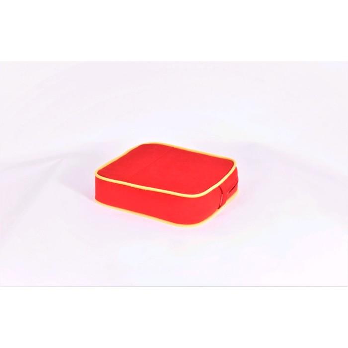 Подушка-пуф передвижной «Моби», размер 40 ? 40 см, красный/жёлтый, велюр