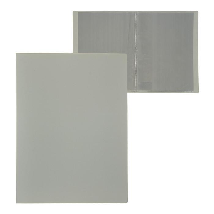 Папка A4, 10 прозрачных вкладышей, 500 мкм, Calligrata, песок, серая