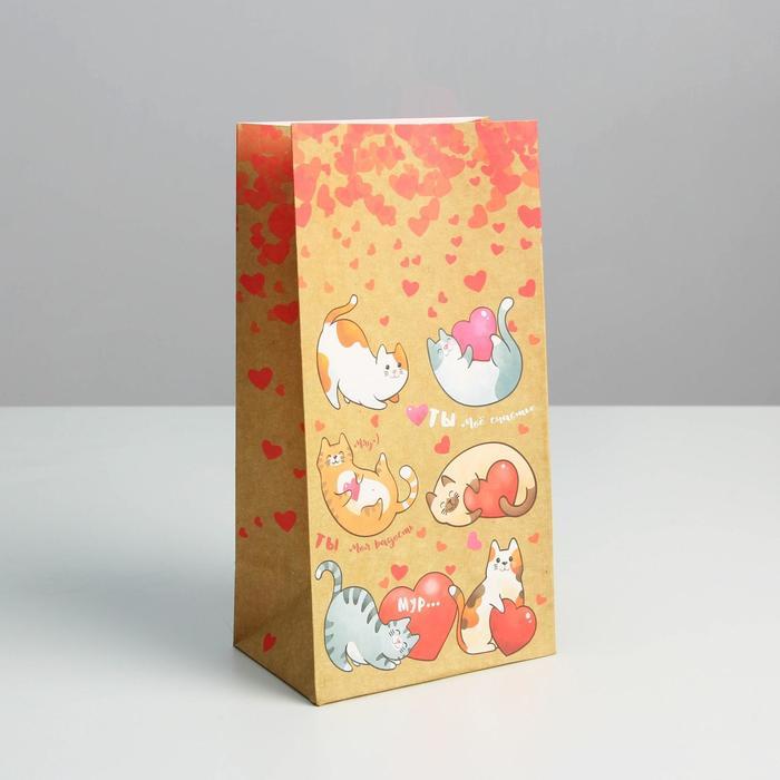 Пакет подарочный без ручек «Ты и я...», 10 ? 19,3 ? 7 см