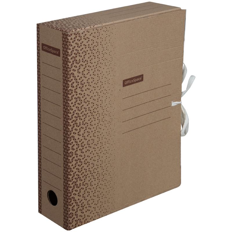"Папка архивная с завязками OfficeSpace ""Standard"" плотная, микрогофрокартон,  75мм,  бурый, 700л."