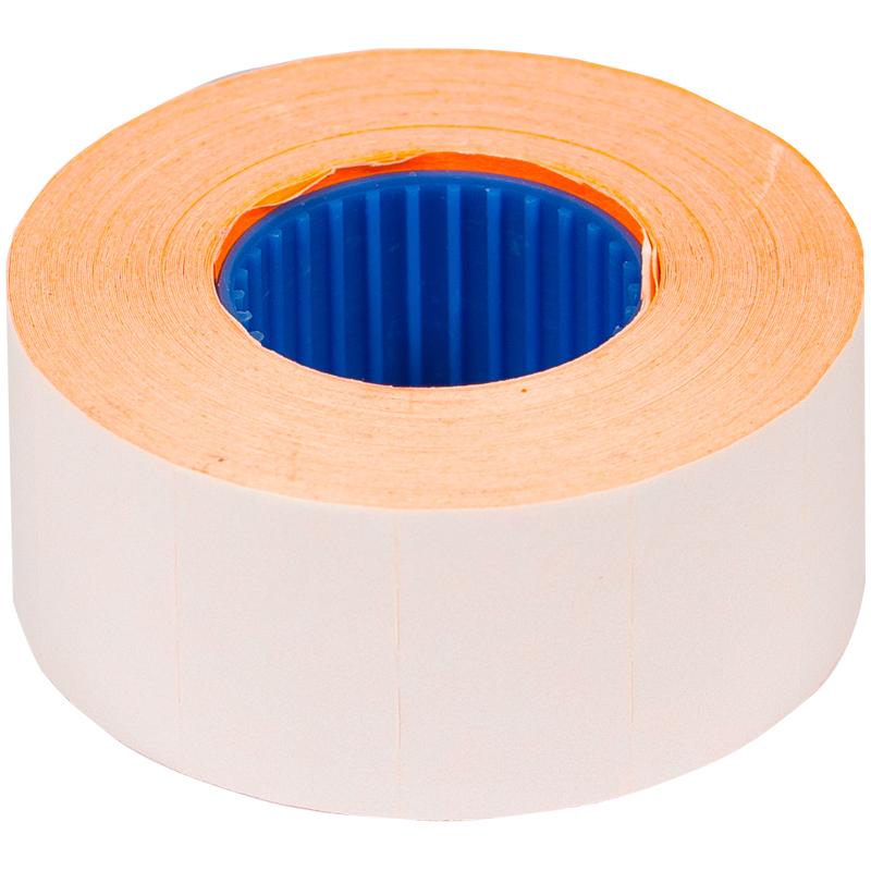 Этикет-лента OfficeSpace, 26*16мм, прямоугольная, оранжевая, 800 этикеток