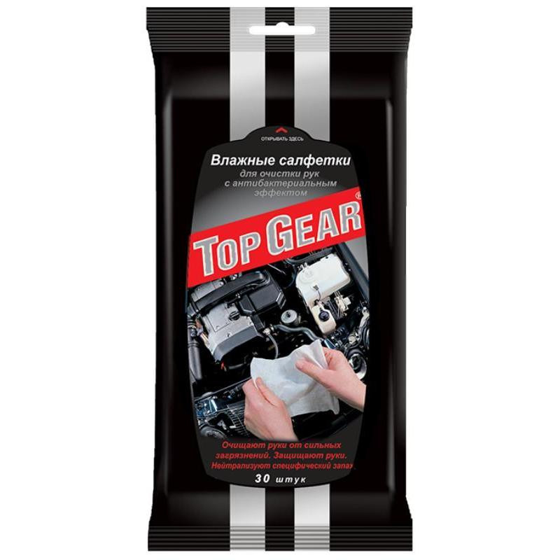 Салфетки влажные для рукTop Gear 30