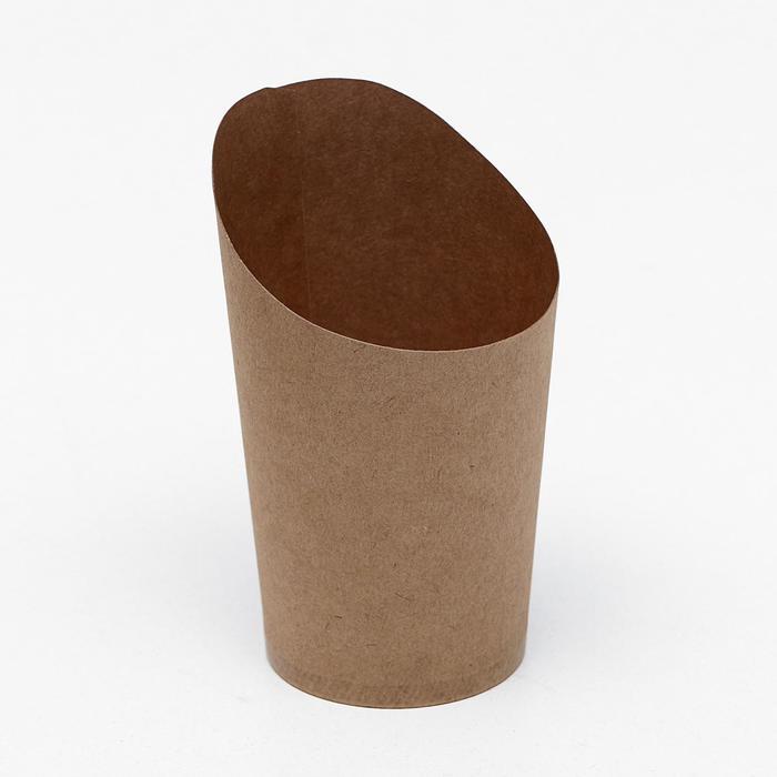 Упаковка для картофеля фри, крафт, 13,2 х 9,1 х 6 см
