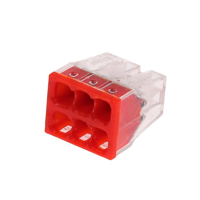 Строительно-монтажная клемма Luazon Lighting КМБ-2273-206, 2,5 мм2, 6 отверстий