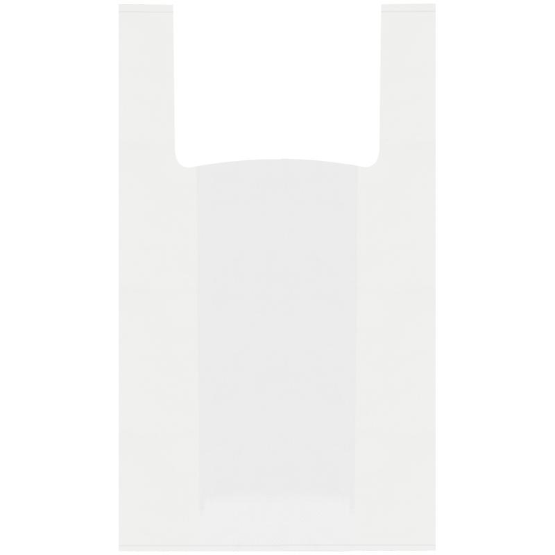 Пакет-майка OfficeClean, ПНД, 28+14*50см, 12мкм, белый