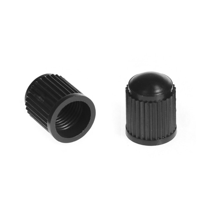 Колпачок на вентиль пластиковый, черный, фасовка 100 шт