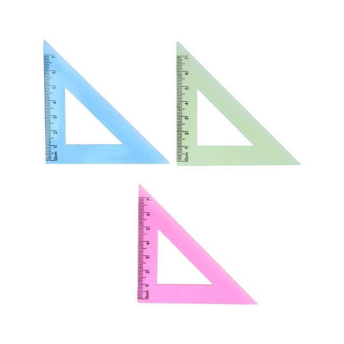Треугольник 7см 45* NEON 4цвета МИКС