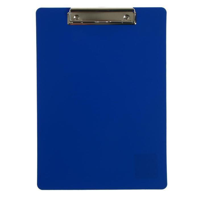 Планшет с зажимом А4, пластик, 1000мкм Calligrata синяя