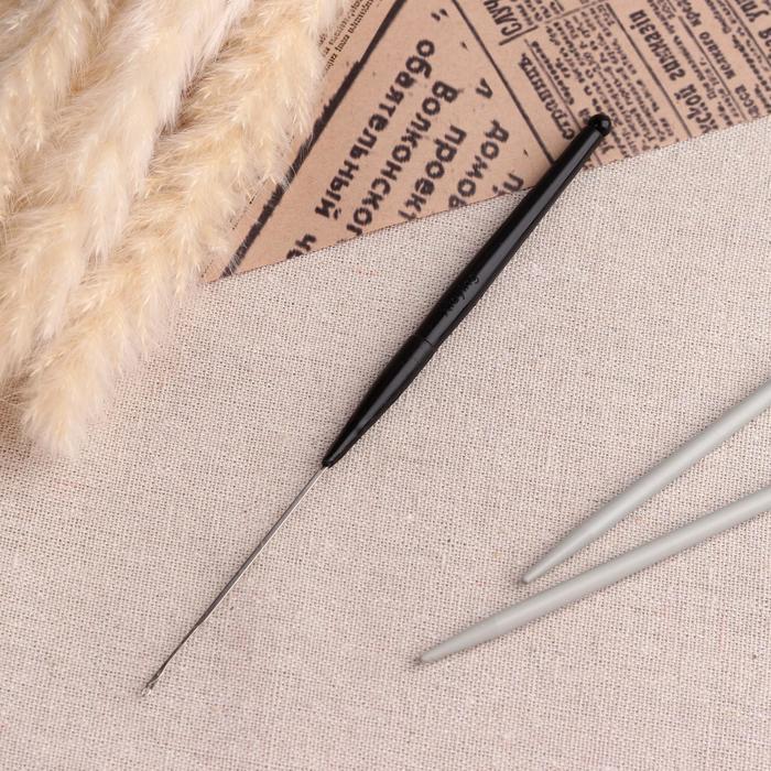Игла для поднятия петель, 16,8 см, цвет чёрный