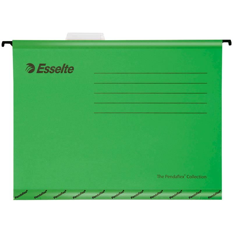 """Подвесная папка Esselte """"Pendaflex Standart"""", А4, картон, 205г/м2, зеленая"""