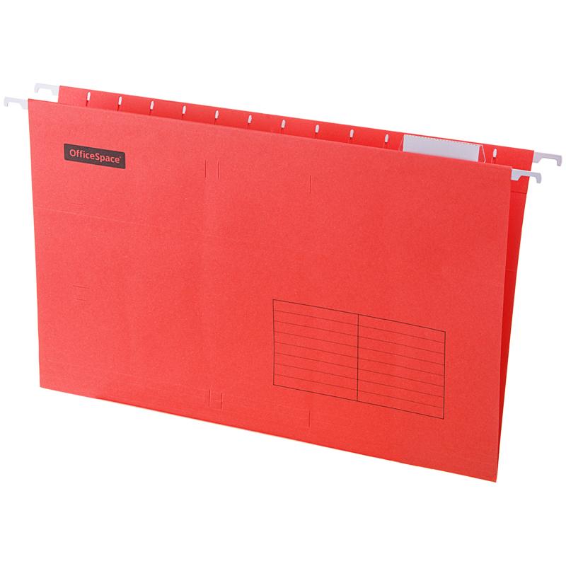 Подвесная папка OfficeSpace Foolscap (365*240мм), красная