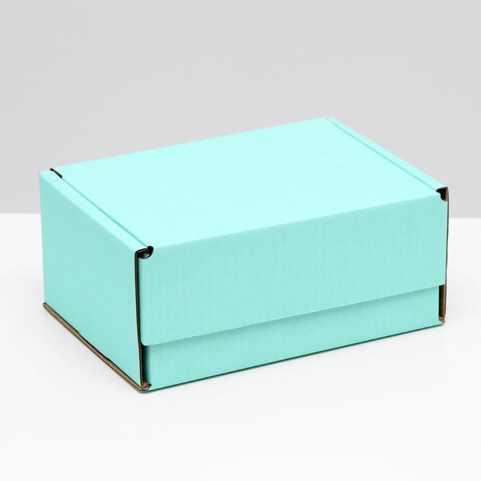 Коробка самосборная, мятная, 22 х 16,5 х 10 см,