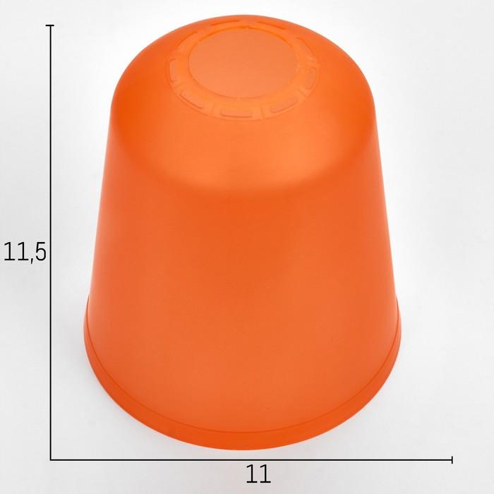 "Плафон универсальный ""Цилиндр""  Е14/Е27 оранжевый 11х11х12см"