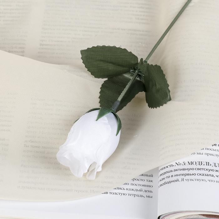"""Цветы искусственные """"Роза"""" 23 см, белая"""