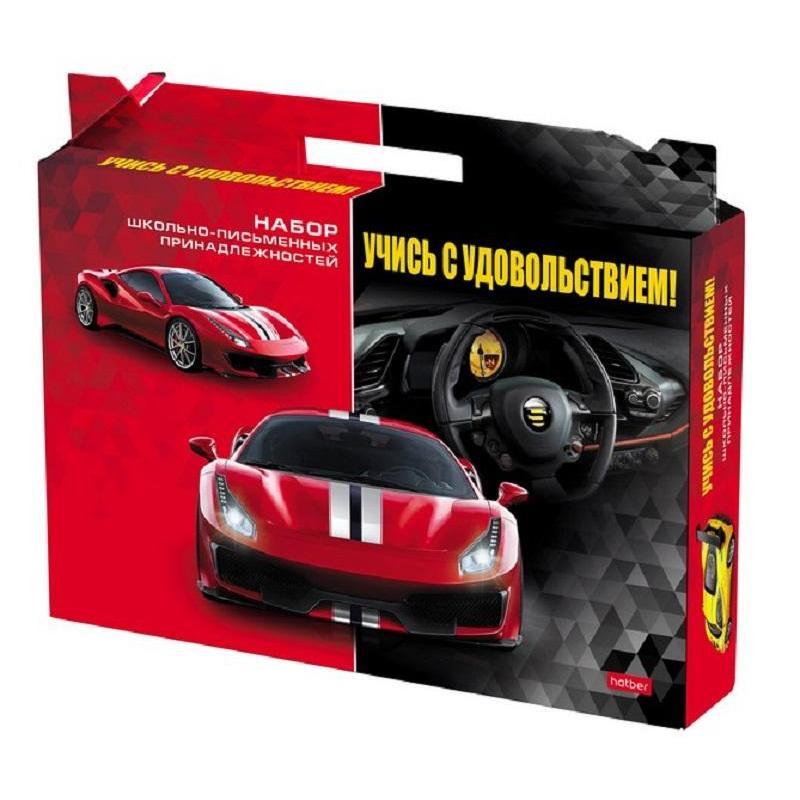 Набор первоклассника Hatber Спортивные автомобили 27 предметов, Нп4_20413
