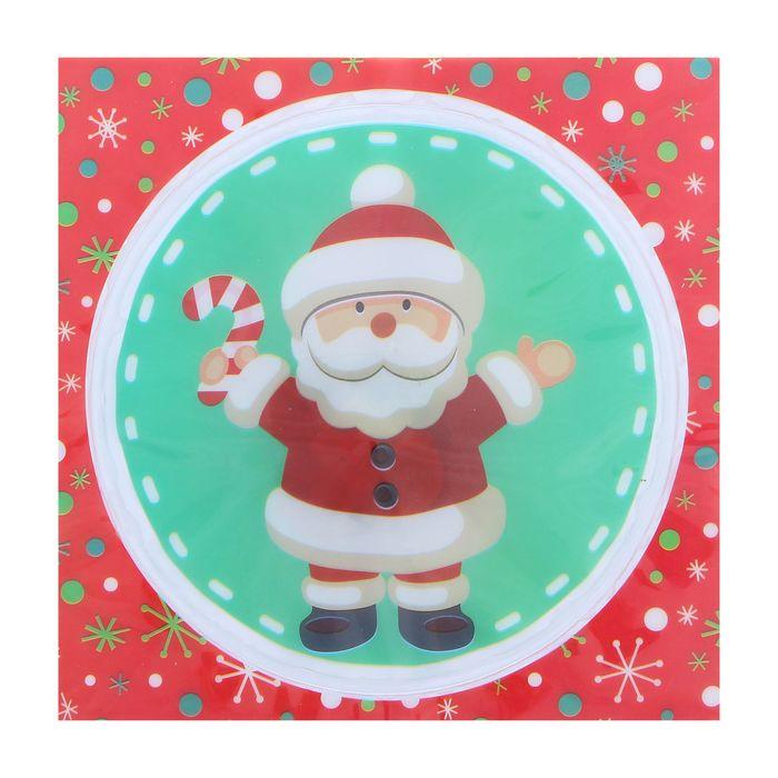 Карнавальный значок-наклейка «Дед Мороз», световой