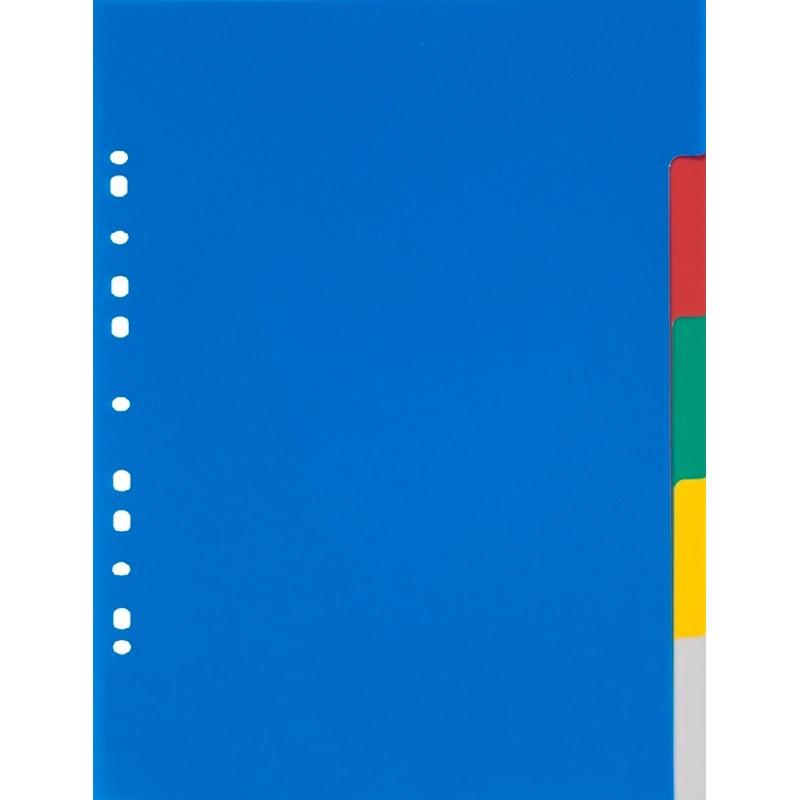 Разделитель листов А3 вертик., 5 цв. пластик, ATTACHE