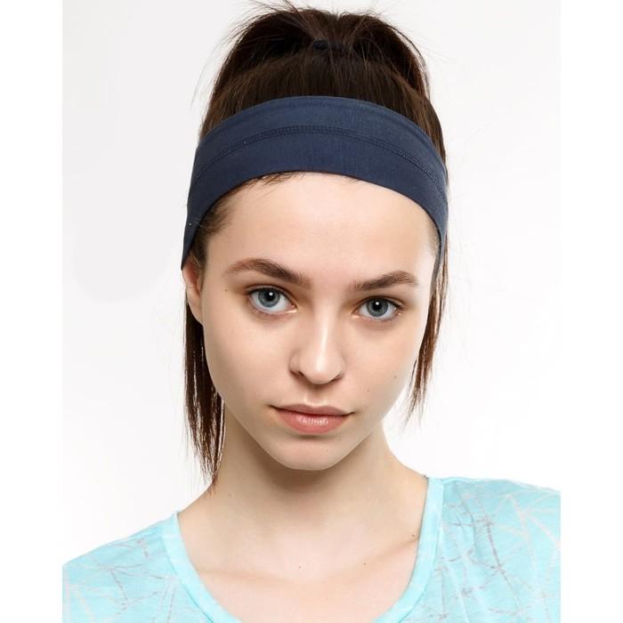 Повязка на голову женская, цвет графитовый, размер 56