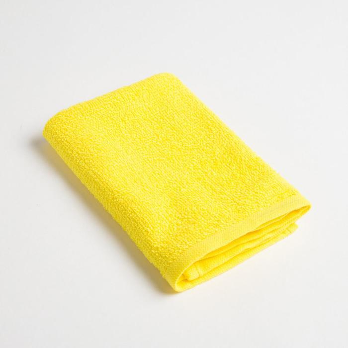 Полотенце махровое Экономь и Я 30х30 см, желтый, 100% хл
