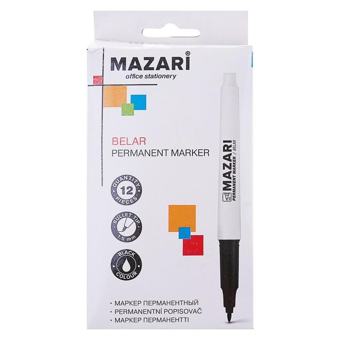 Маркер перманентный Mazari Belar, 1.5 мм, чёрный