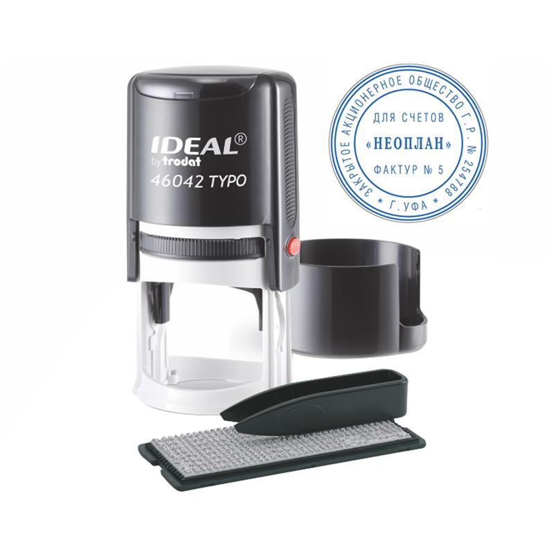 Печать самонаборная автоматическая Ideal, €42мм, 1 круг (161483)