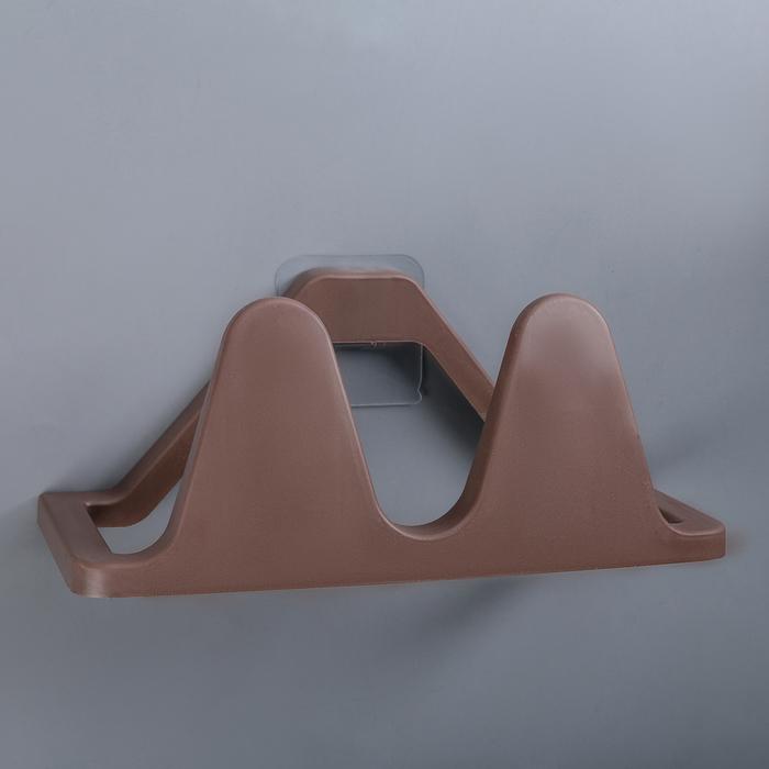 Подставка для обуви настенная 24х11,5х10 см цвет шоколадный