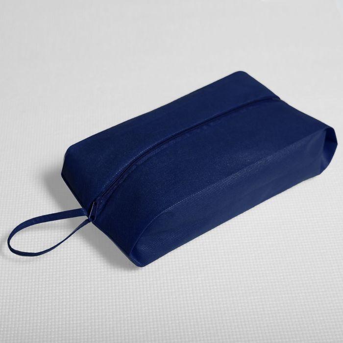 Сумка для обуви, отдел на молнии, цвет синий