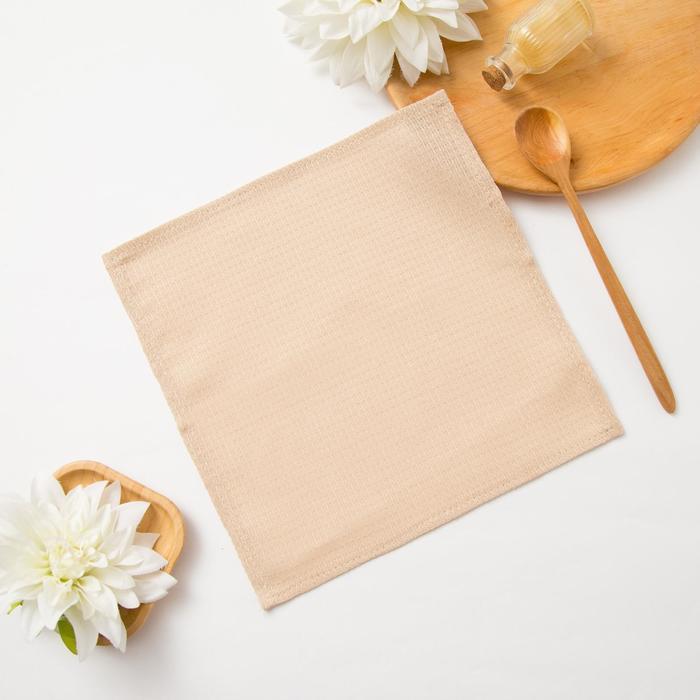 Полотенце вафельное «Доляна» 30х30± 3 см