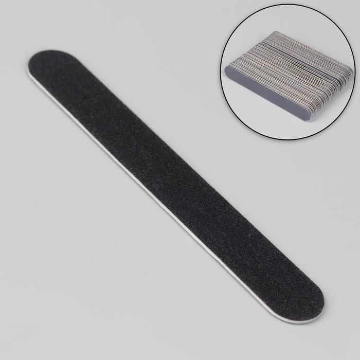 Пилка-наждак «Классика», абразивность 240, 10 см, фасовка 50 шт, цвет чёрный