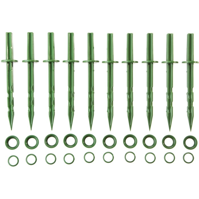 Колышек садовый, h = 20 см, набор 10 шт., зелёный