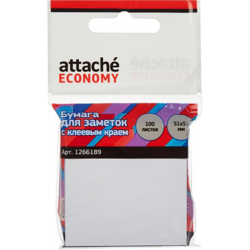 Стикеры Attache Economy с клеев.краем 51x51 мм, 100 листов, белая