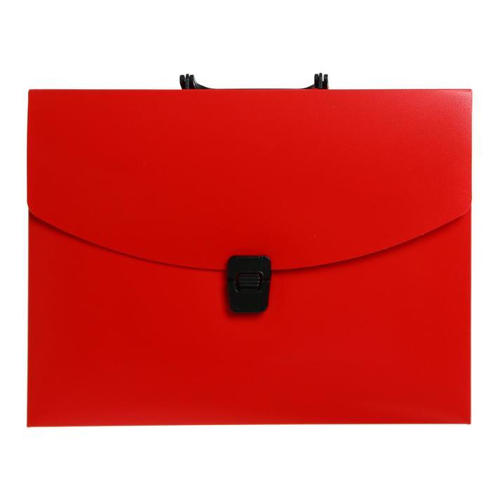 Папка-портфель А4 1отд Calligrata 700мкм, красная