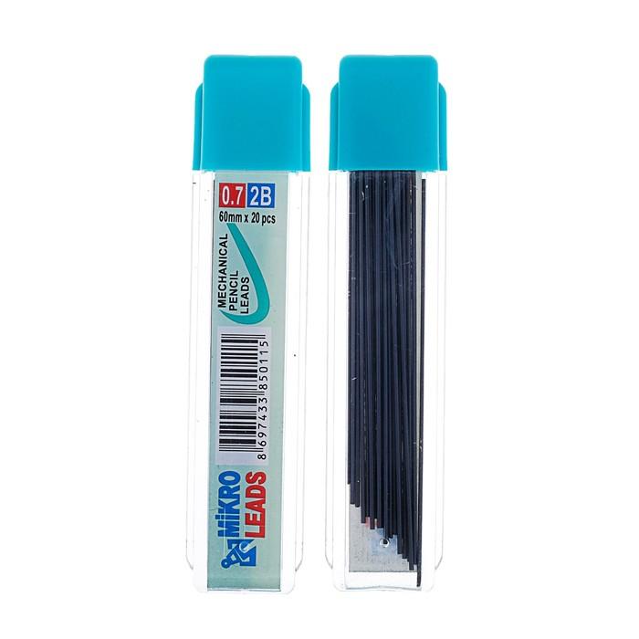 Грифели для механических карандашей, 2В, 0.7 мм, 20 шт.