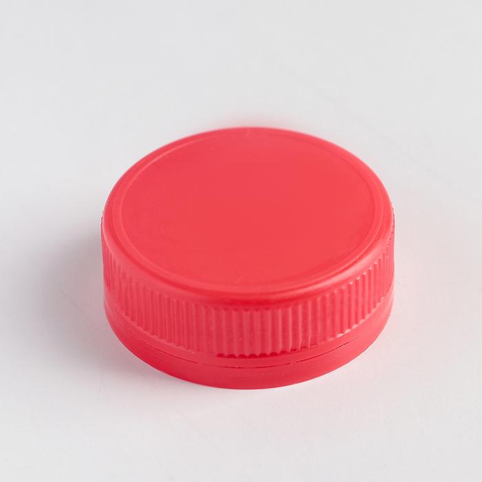 Крышка одноразовая к бутылкам молочным 38 мм, на: 0,3 л; 0,5 л; 1 л, цвет красный
