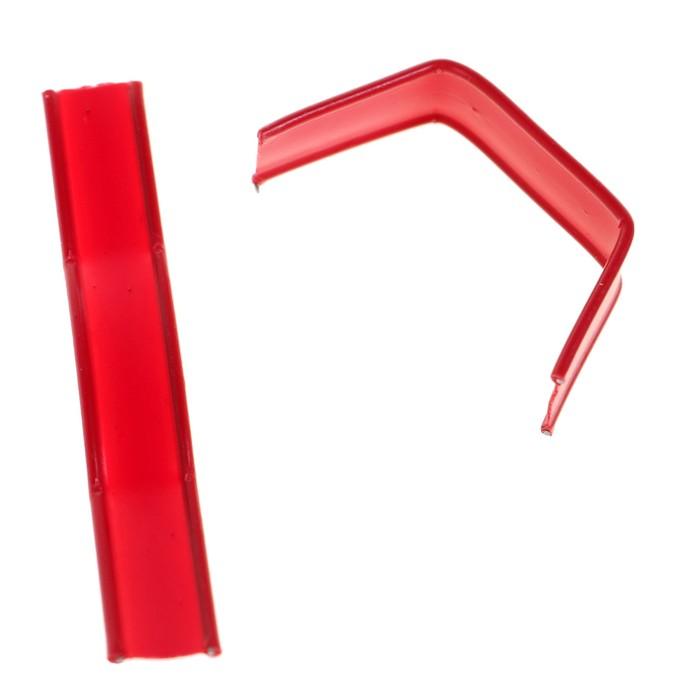 Клип-лента в нарезке, загнутая, красный, 5 см