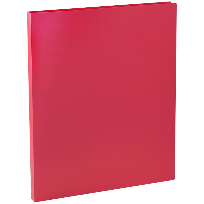 Папка с зажимом OfficeSpace, 14мм, 450мкм, красная
