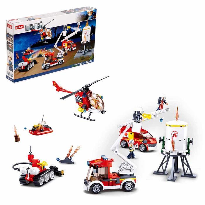 Конструктор Пожарный «Пожар на нефтебазе», 490 деталей