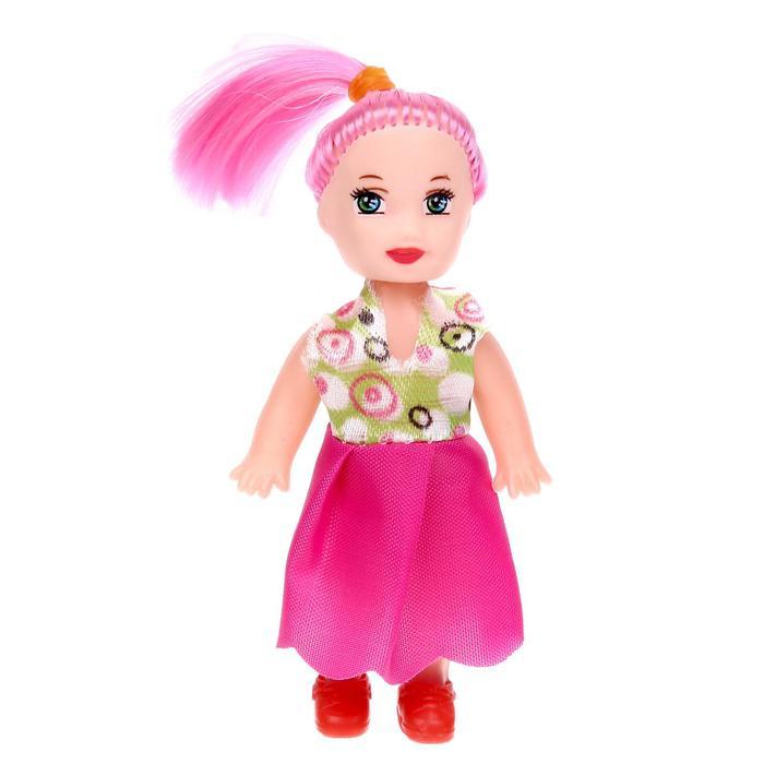 Кукла малышка «Таня» в платье, МИКС