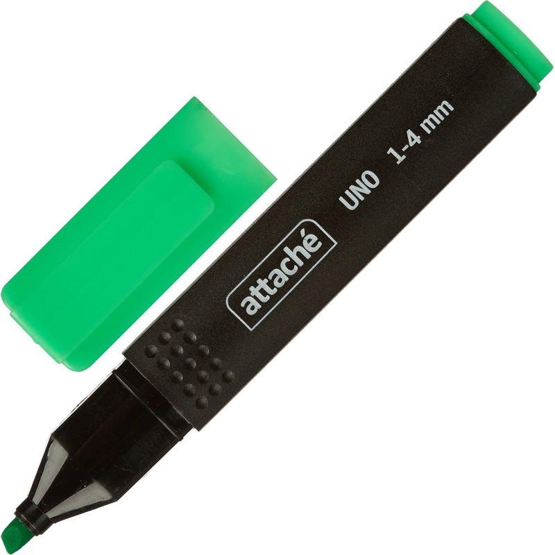 Маркер текстовыделитель Attache Economy Uno 1-4мм зеленый